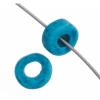 Ceramic Bead Washer 6X2.5mm Blue